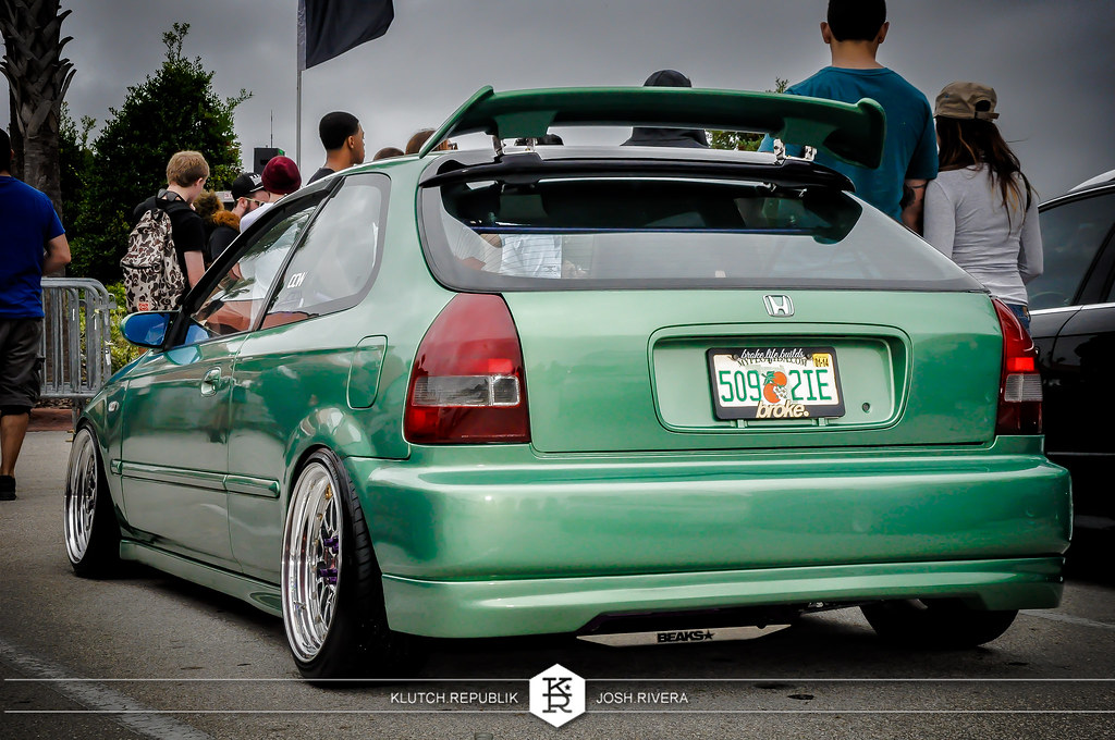 midorian green honda ek9 civic ctr hatchback with ccw wheels at simply clean 5