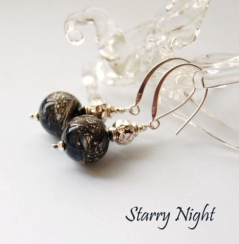 Starry Night Earrings by gemwaithnia
