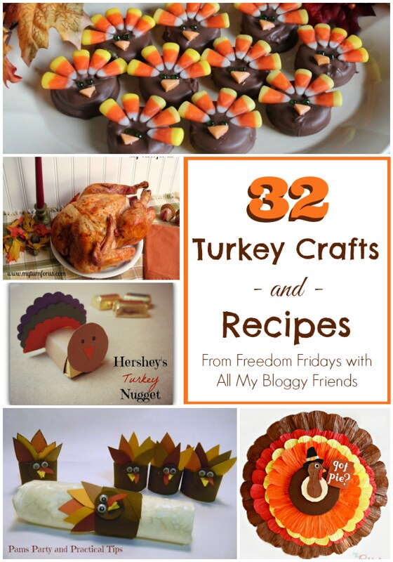 32 Turkey Crafts and Recipes #Thanksgiving #turkey #recipes #crafts