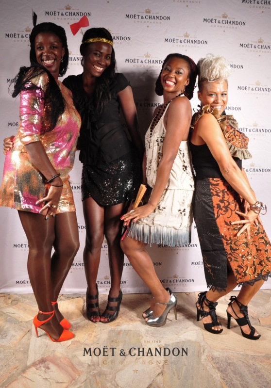 Jennifer Williams-Baffoe, Belinda Baidoo (B2 Models), Makeba Boateng and Bee Arthur (Designer)