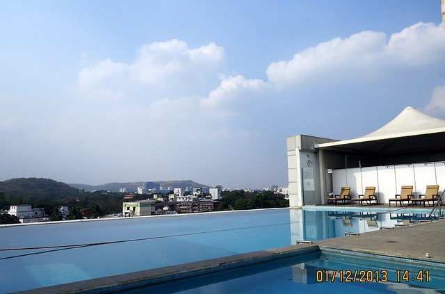 View from Swimming Pool at Ramee Grand Hotel - 94.3 Radio One Pune  'Dream Property Expo' - Pune Property Exhibition - 30th November & 1st December 2013 at Ramee Grand Hotel, Apte Road, Pune