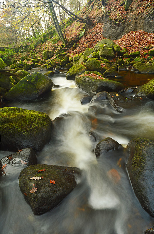 River panorama landscape photography by billy clapham, padley gorge, Peak district