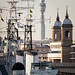 HMS Belfast, Cannon Street & the BT Tower by cybertect