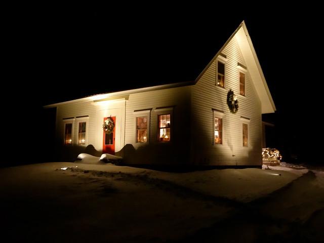 Yuletide farmhouse