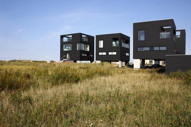 Floating cube houses Havneby Rømø island Denmark