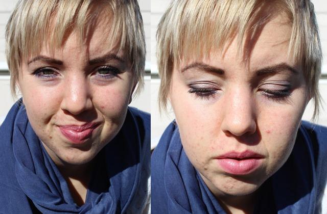 Blue Circle Scarf & Subtle Makeup - FOTD