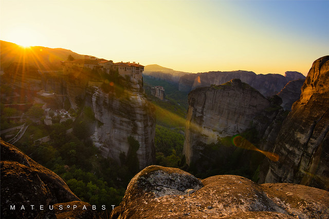 Sunrise at Meteora's Monasteries
