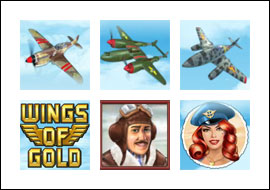 free Wings of Gold slot mini symbol