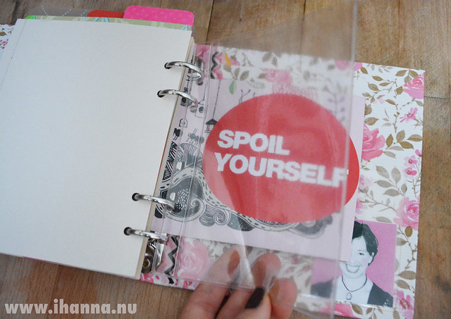 DIY Calendar: Spoil Yourself + plastic pocket