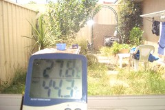 Extreme heatwave Fawkner temperature over 40C