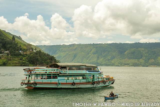 Indonesia - North Sumatra - Samosir Island - Boat ride at Lake Toba - The boat taxi