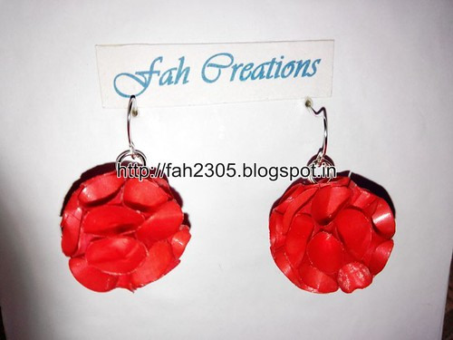Handmade Jewelry - Paper Cone Globe  Earrings by fah2305