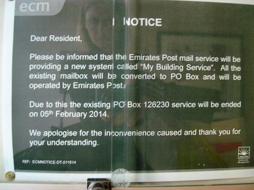PO Box Notice