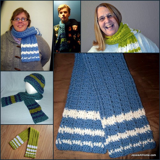 Raised Stripes Scarf ~ Free Crochet Pattern Jessie At Home