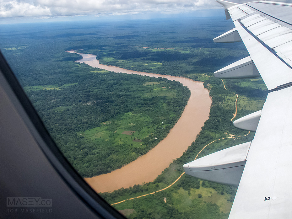 The rivers of the Amazon a BIG and murky!
