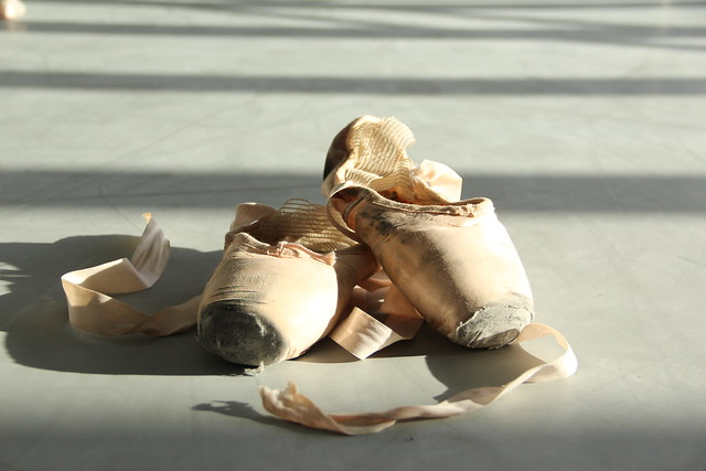 Used pointe shoes © ROH / Ruairi Watson 2014