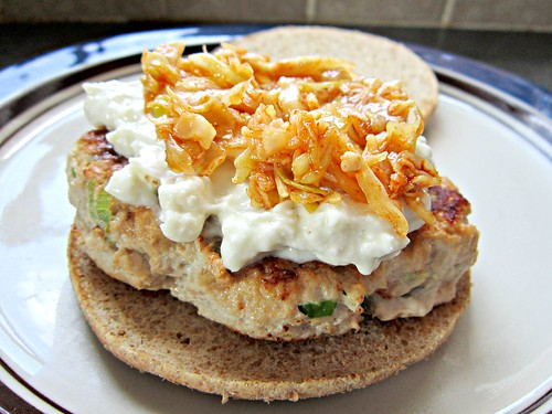 Turkey Burger with Gorgonzola Sauce 2