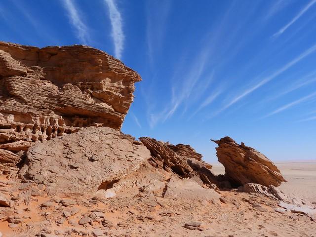 Los tres castillos (Desierto Líbico, Egipto)