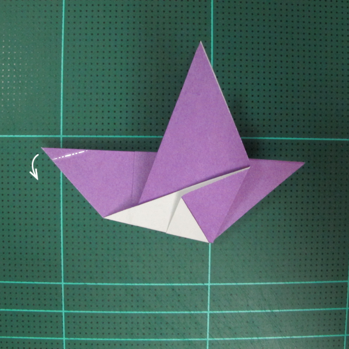วิธีพับกระดาษเป็นนกพิราบแบบง่าย (Easy Origami Pigeon) 010