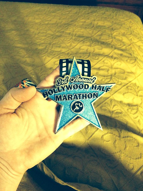 Hollywood Half Marthon 2014 medal