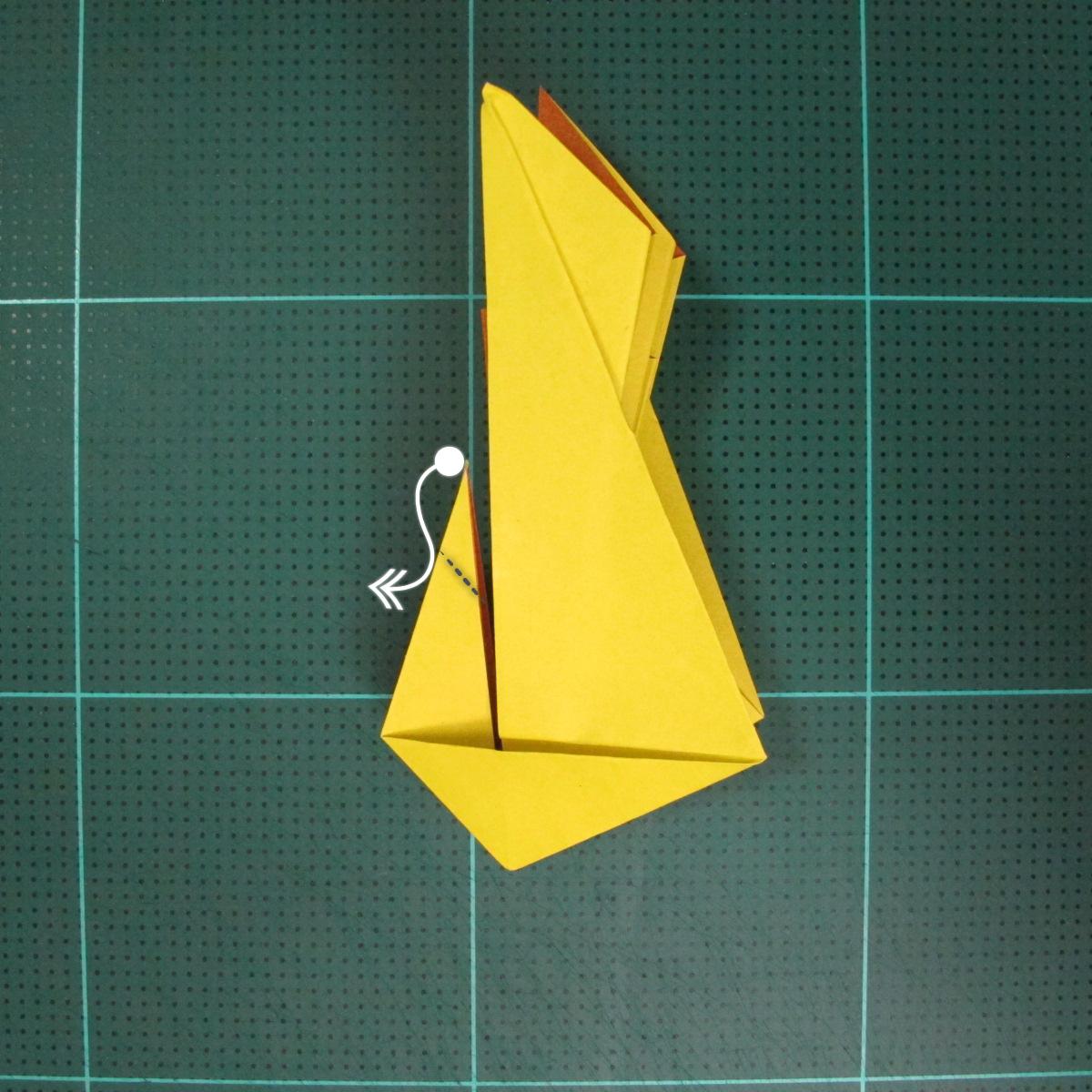 วิธีพับกระดาษเป็นรูปนกยูง (Origami Peacock - ピーコックの折り紙) 027