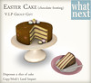 {what next} Easter Cake VIP Group Gift -Chocolate Frosting