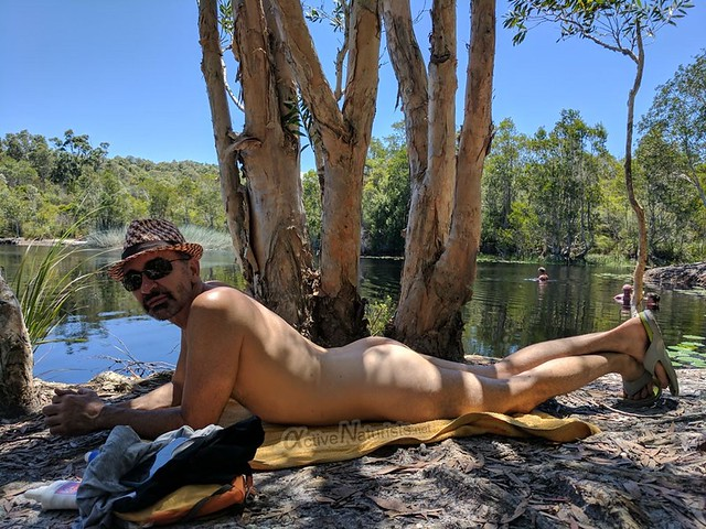 naturist 0000 Tyagarah lake, New South Wales, Australia