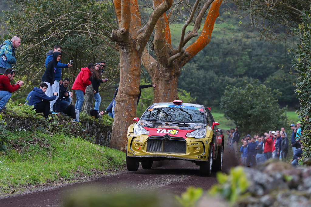16 BOTKA David SZELES Peter  Citroen DS3 R5 Action during the 2017 European Rally Championship ERC Azores rally,  from March 30  to April 1, at Ponta Delgada Portugal - Photo Gregory Lenormand / DPPI