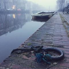 #foggy #canal #leiden #netherlands