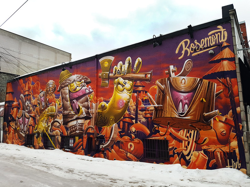 Mural by Tom HRVB - Montréal