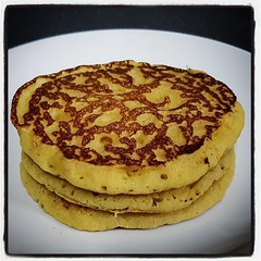 What do you do with leftover batter? Make Maple Cornbread Pancakes, of course!!