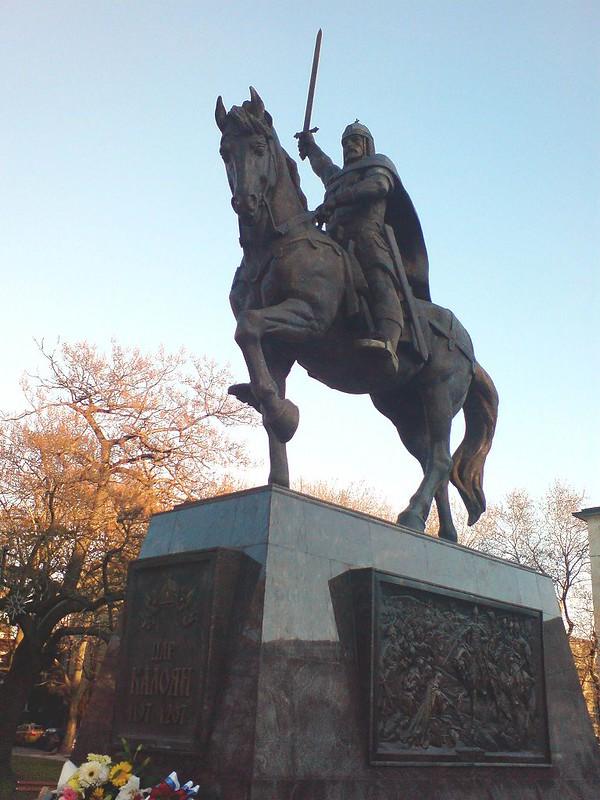 Statue of Emperor Kaloyan in Varna