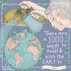 Illustrated Rumi Earth Day Quote by Yaansoon Illustration