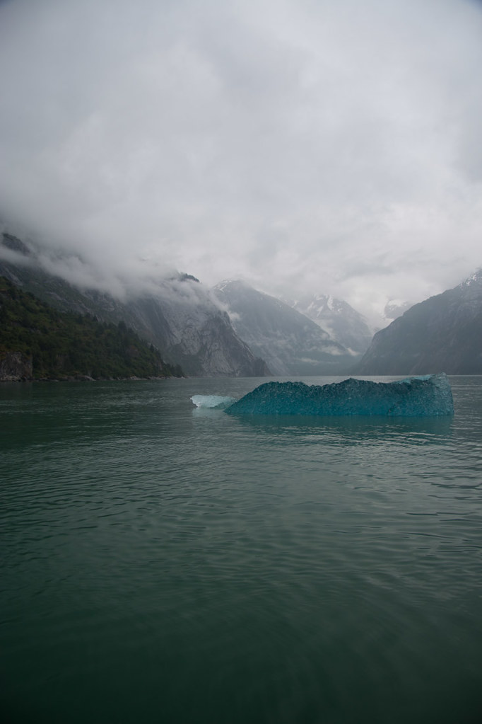 Clear blue iceberg in Alaska | Tracy Arm Fjord