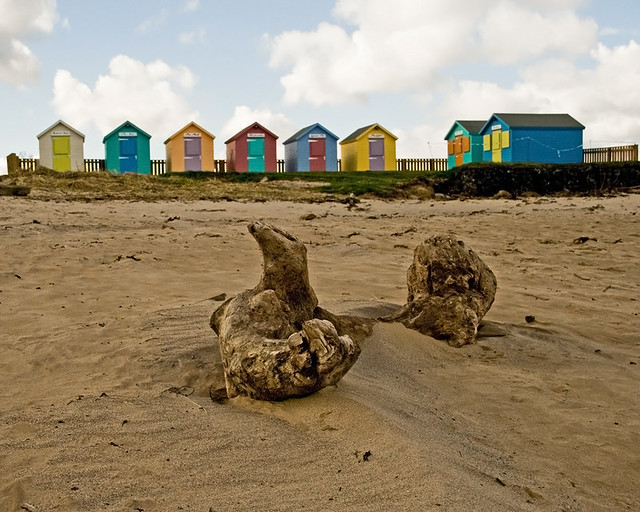 Beach Huts in Amble