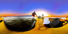 Kayaking And Soaking In Rising Full Moon & Stunning Setting Sun At Tampa Bay Florida In Full 360° - IMRAN™