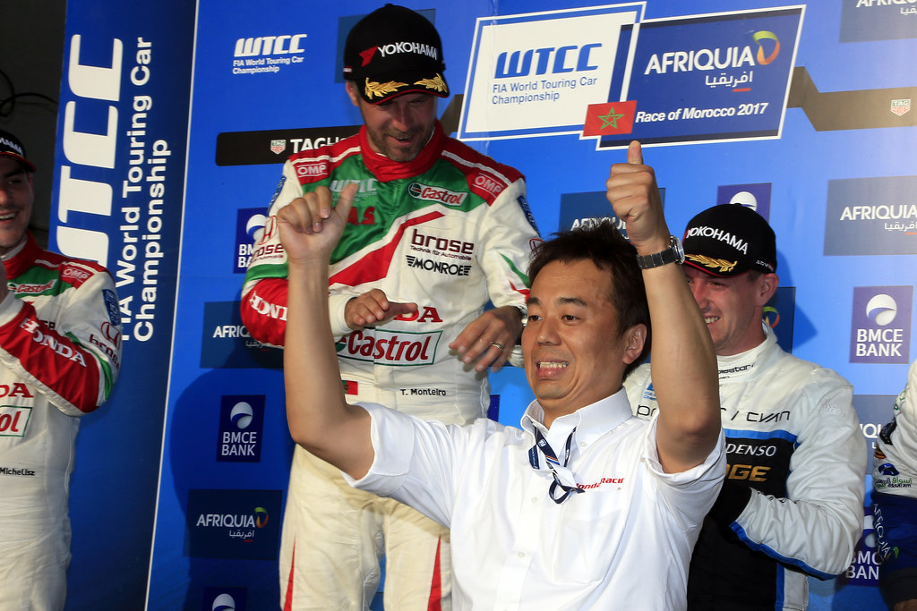 ambiance podium race 2 during the 2017 FIA WTCC World Touring Car Race of Morocco at Marrakech, from April 7 to 9 - Photo Paulo Maria / DPPI