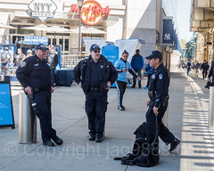 NYPD Police Officers outside Yankee Stadium, The Bronx, New York City