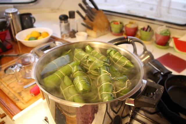 Hallacas on the boil