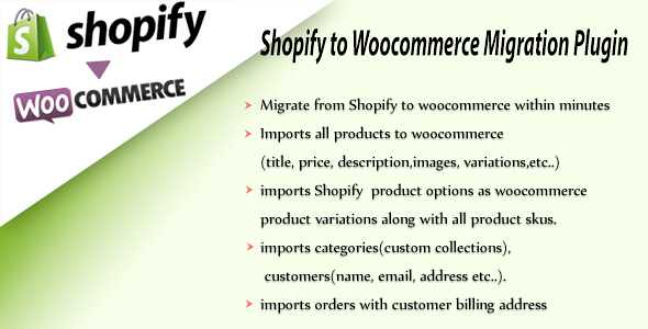 Shopify To Woocommerce Importer WordPress Plugin free download