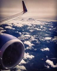 Coming Home #flyinghigh #mtrainier #mtrainiernationalpark #southwestairlines #washington #pnw #fuselage #cominghome #wanderlust #clouds #cascades #volcano #mtadams