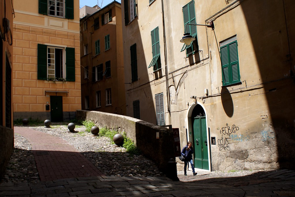 Dans le quartier du Molo dans le Vieux Gênes.