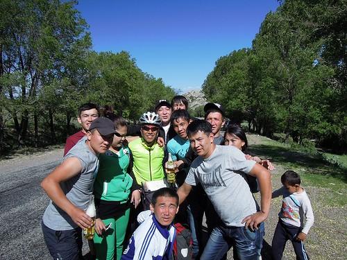 カザフの若者