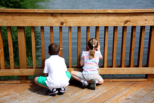 Kids-Looking-Down-at-Water