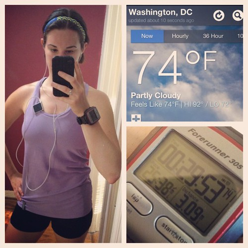 Definitely going to be tricky breaking my 5K PR in this heat. #whatsbeautiful #fitfluential