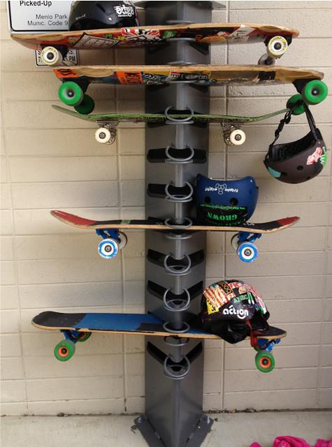 SkateDock locking skateboard rack | Flickr - Photo Sharing!