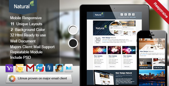 Natural Responsive Email Template