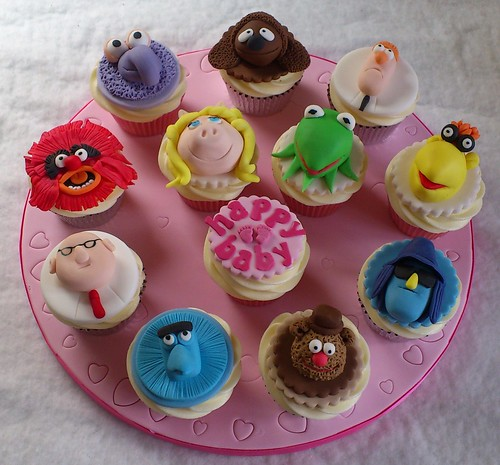 Muppet Baby Shower Cupcakes