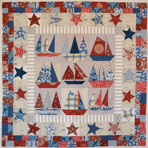 Sailboats quilt top finished
