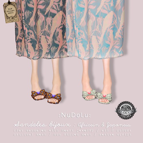 NuDoLu Sandales bijoux for TGGS AD